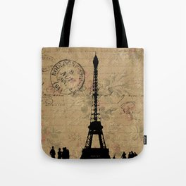 EIFFEL TOWER FRENCH COLLAGE Tote Bag