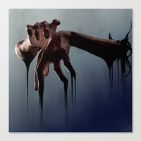 hands Canvas Prints featuring Hands by Jyri Straechav