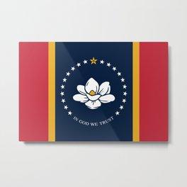 Mississippi Flag 2020 New Flag Metal Print