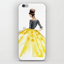 Sunny Spring Yellow Skirt Fashion Illustration iPhone Skin