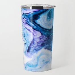 Blue marbled paper Travel Mug