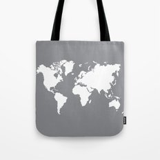 gray map Tote Bag