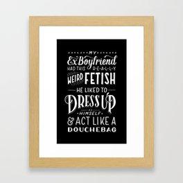 Douchebag Framed Art Print