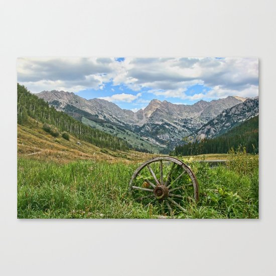 Colorado Rockies Secluded Lake Canvas Print