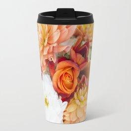 orange, yellow and white flowers Travel Mug