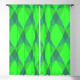 Complex interlocking hexagon and diamond pattern (green) Blackout Curtain