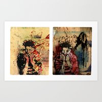 As Time Grinds Down Art Print