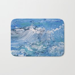 Crashing waves Bath Mat