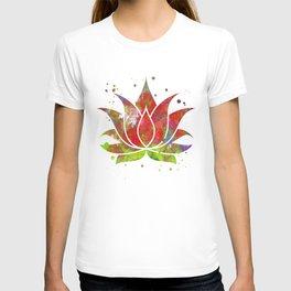 Colorful Lotus Flower T-shirt