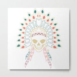 Indian Skull Metal Print