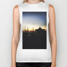 Lighthouse at Sunset Biker Tank