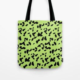 Neon Green Print Leopard Animal Pattern Tote Bag