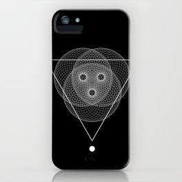 Mesh triangle geometry iPhone Case