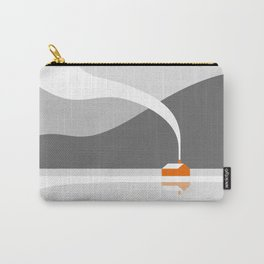 Orange Cabin in the Snow Carry-All Pouch