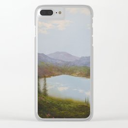 Lake Enchantment Clear iPhone Case