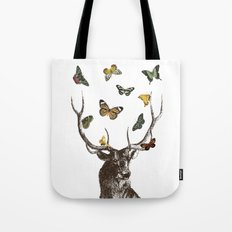 The Stag and Butterflies Tote Bag