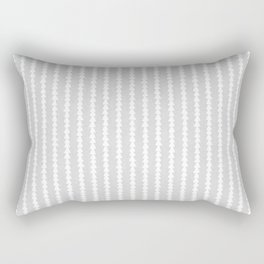 Tiny Triangles Stripes in Grey Rectangular Pillow