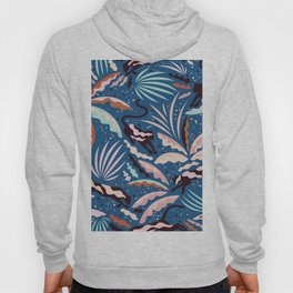 Exotic Wilderness on Blue / Panthers and Plants Hoody