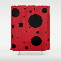 ladybug Shower Curtains featuring Ladybug by Citrone®
