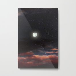 Dawn's moon Metal Print