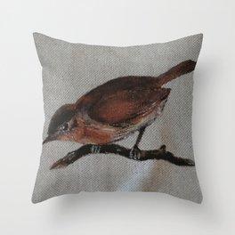 A red Bird Throw Pillow