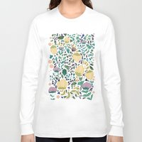 flower pattern Long Sleeve T-shirts featuring Flower Pattern by Jo Cheung Illustration