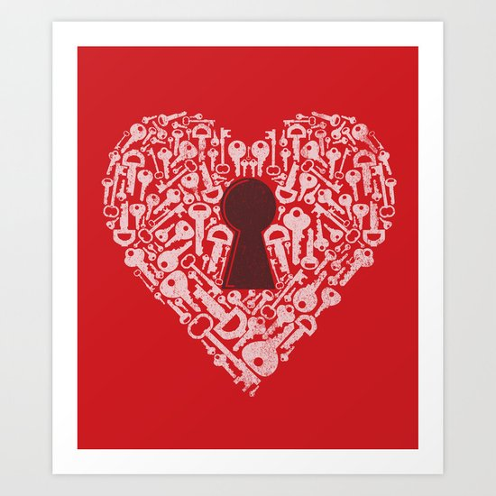 The Key To My Heart Art Print