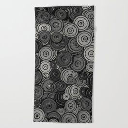 Heavy iron / 3D render of hundreds of heavy weight plates Beach Towel