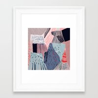 knit Framed Art Prints featuring knit painting by frameless