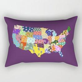 48 State Flowers Rectangular Pillow