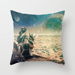 Watching Closely Throw Pillow