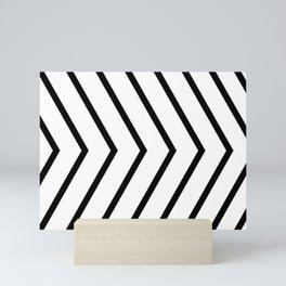 Black arrows on white background. Mini Art Print