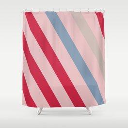 poplin    cotton candy pink Shower Curtain