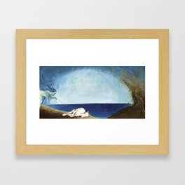 Wind Woman Children's Book Illustration Framed Art Print