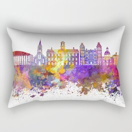 Athens - OH skyline in watercolor background Rectangular Pillow