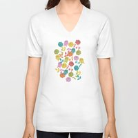 roses V-neck T-shirts featuring ROSES by Bianca Green