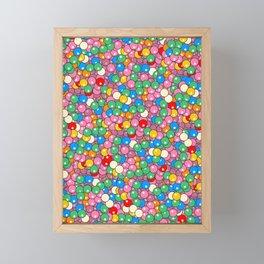 Bubble Gum Balls Juicy Tropical Fruity Framed Mini Art Print