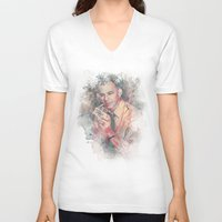 frank sinatra V-neck T-shirts featuring Frank Sinatra by Nechifor Ionut