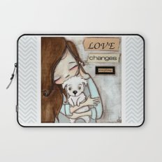 Love Changes Everything by Diane Duda Laptop Sleeve