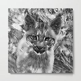 AnimalArtBW_Cougar_20170601_by_JAMColorsSpecial Metal Print