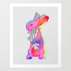 Psilocybin Rabbit Art Print