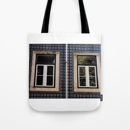 Lisbon Windows Tote Bag