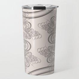 Bridal Blush Fractal Travel Mug