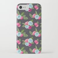 flower pattern iPhone & iPod Cases featuring Flower Pattern by eARTh