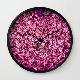 Pretty Pink Flowers Wall Clock