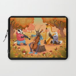 Musician animals in the wood Laptop Sleeve