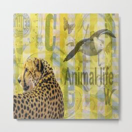 Yellow tiger Metal Print