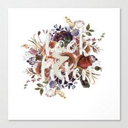 Look & Listen Floral Canvas Print