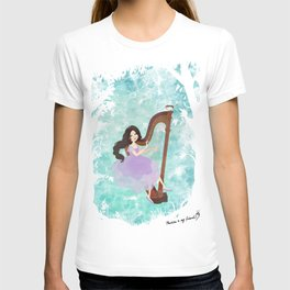 Harp girl 6: Music from the forest T-shirt