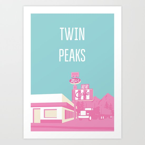 Twin Peaks Double R Diner Art Print